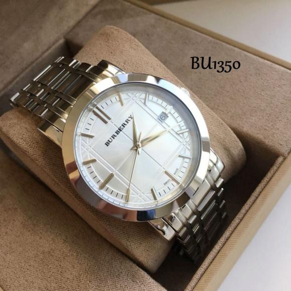 f1996cc8385 Burberry Accessories   Silver Mens Heritage Dial Watch Bu1350   Poshmark